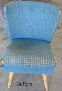 1950 blou stoel